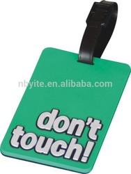 Eco friendly soft pvc photo bag tag for teavel
