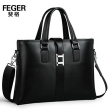 Fashion Design Wholesale Genuine Leather Men Bag Leather Men's Briefcase