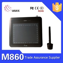 High quality Ugee M860 8x6 inch black color for sketching tablet digital pen