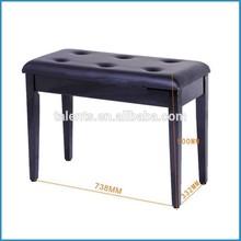black polish piano bench/piano chair/piano throne