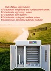 XSA-5 528pcs automatic egg hatching machine/chicken egg incubator for sale