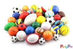 Partypro 2015 Best Selling PU FOAM 4/5/6.3CM DIA Stuffed Mini Basketball Toy