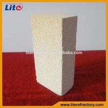 JM series Furnace lining lightweight mullite heat insulation refractory brick for sale