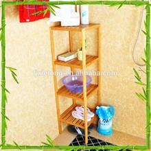 Four Tiers Bamboo Bathroom Storage Rack Hot Sale