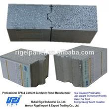 Prefab low cost eps cement sandwich wall partition panels interlocking brick