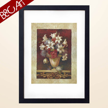 China art classical colorful flowers oil painting for home lobby decoration