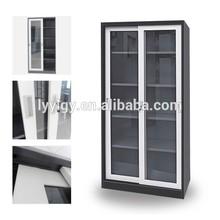 Grey and white powder coating 4 clapboard steel cupboard kitchen furniture/metal sliding glass door cupboard