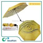 3 fold offset print promotion sunshade telescopic umbrella
