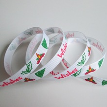 2015 newest halloween printed ribbon/ custom printed ribbon