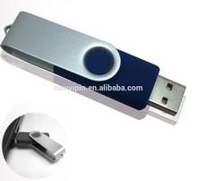 Fance cheap swivel USB flash memory stick pen drive Cheap and Polular metal swivel usb flash drive