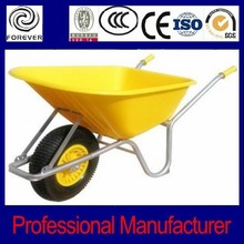 Wagon wheels and axle for electric wheel barrow WB6414T