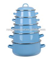 flowe design enamel casserole set enamel cookware