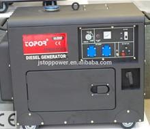 NEW type with handle start diesel engine 5kw silent diesel generator