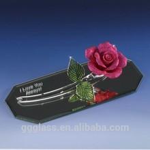 besten Valentinstag großhandel geschenke crystal red rose figuren
