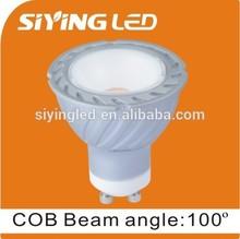 GU10 LED COB spotlight bubls 5w 6w 7w plastic with aluminum bulbs