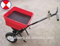 Salt spreader cart, fertilizer spreader cart