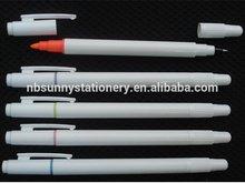 customized logo white ball pen highlighter ,highlighter with pen