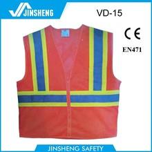 polyester motorcycle cloth Fuloreslent Reflective safety vest
