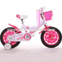 Girl child kid bike / kids dirt bicycle / 4 wheels kid bike cycle with helmet