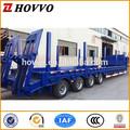 China caliente venta 4 ejes 80t-100ton plano semi remolque/bajo la cama del remolque del camión/lowboy chasis