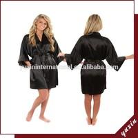 Women's Satin Silk Robes Transparent Nighty Sexy Kimono plain Robes PS014