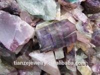 Cheapest Natural raw colorful fluorite stone for women fluorite rough stone pieces raw quartz price