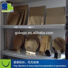 gold cardboard food trays design