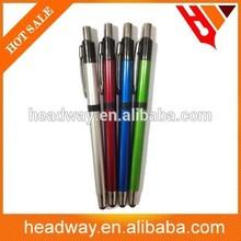 new custom slim press metal ball pen with clip