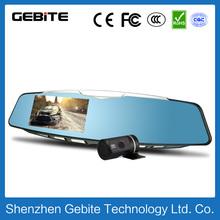"HD dual lens car mirror camera 800w pixels HD 4.3"" auto driving video recorder mirror camera factotry OEM vehicle camera record"