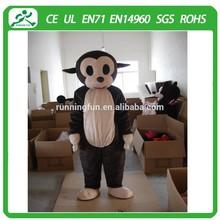 Hot slae monkey mascot costume/ cartoon monkey costume/high quality animal mascot for activities