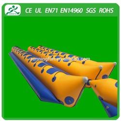 Single tube Inflatable double Banana boat(10 seats)