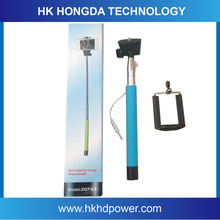 Wholesale cheap price wired selfie stick monopod for mobile phone uses