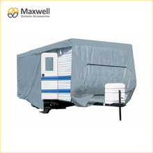 SFS Triple Layer Fabric Travel Trailer RV Cover with Door Access