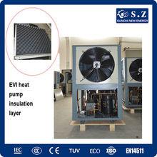 Netherland/Poland-25C cold winter floor heat 100~300sq meter room 12kw/19kw/35kw/70kw EVI air source heat pump buildings heating