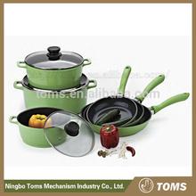 Die Cast Aluminium Ceramic coating nonstick 9pcs pressure cooker Cookware Sets