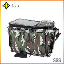 Promotional shoulder solar powered cooler bag