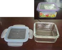air-tight fresh-keeping container SQUARE GLASS CONTAINER