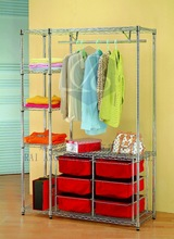 """""""2015 New Product - Hot Sales"""" Six Basket and Side Wire Shelving Clothes Hanger Rack"""