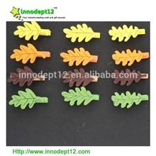 non-woven leaf home decoration,wooden clip/peg