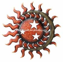 Regal Art & Gift Celestial Metal Crafts Wall Hanging Sun And Moon Decor