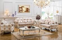 antique ls056 elegent branco moldura de madeira entalhada flor tecidodeveludo sofá da sala conjunto de sala de estar e mobiliário italiano