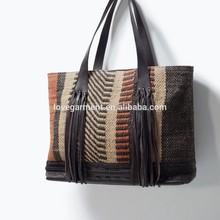 handmade fashion new 2015 grass beach straw bag female woven bag
