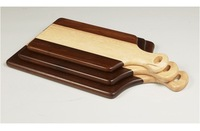 Rubber Wood Cutting Serving Board with Handle Hard wood kitchenware