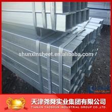 galvanized square pipe for structure