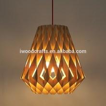 Wood pendant lighting wood, wood hanging pendant lamp light LDP001M