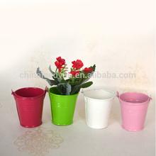 Lovely tin metal vase decorative bucket
