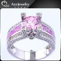 Moda prata esterlina 925 branco de ouro rosa Opal anel Marquise