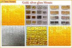 Gold and silver glass Mosaic Make a machine