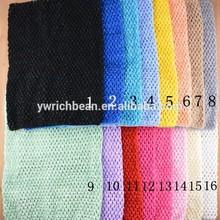 Wholesale large 12 Inch girl Tutu Crochet Top Baby Stretch Colored Tutu Headband WH-1300