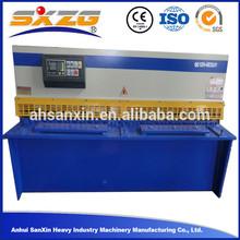 QC12Y 4mm thick anhui 2500mm metal plate DAC310 system line rail shearing shear cutting machine